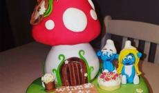 Smurftårtor - Tårtor med Smurfarna