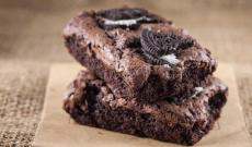 Vegansk Brownie med Oreo