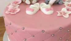 Babytårtor - Rosa