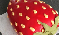 Röda Marsipantårtor