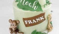 Gröna Marsipantårtor